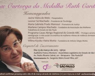 Convite Medalha Ruth Cardoso