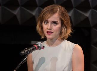 Emma Watson at the UN women launch of HeForShe arts week on
