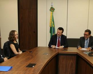 04.04 Ministro recebe a pesquisadora do Inpa Fernanda Werneck