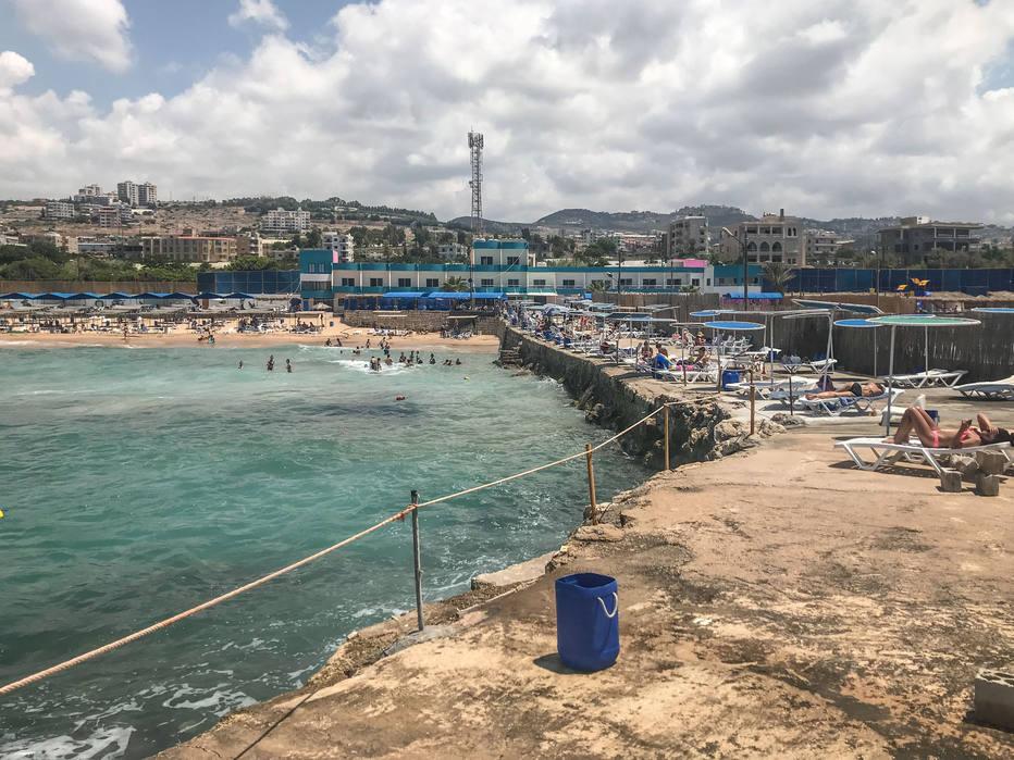 Uma praia para mulheres muçulmanas