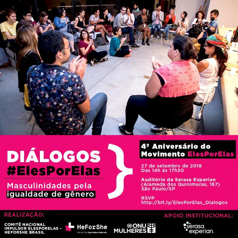 4º Aniversário do Movimento ElesPorElas: DIÁLOGOS #ElesPorElas – Masculinidades Pela Igualdade De Gênero