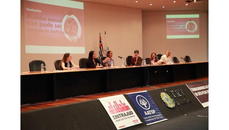 Assédio contra mulheres é pauta em evento no TRT-2