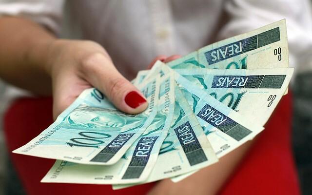 money on hands